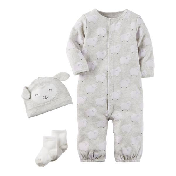Neutral Baby's 1-Piece Jumpsuit with Hat & Socks