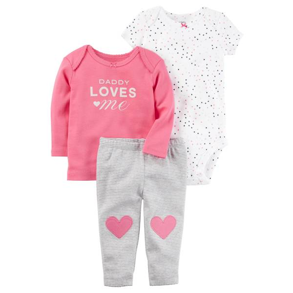 Baby Girls' 3-Piece Outfit Set