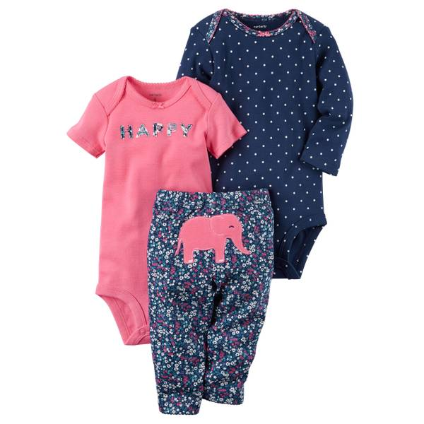 Baby Girls' 3-Piece Little Character Set