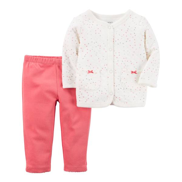 Baby Girls' 2-Piece Cardigan & Pants Set
