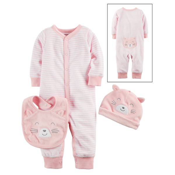 Baby Girls' 3-Piece Layette Set