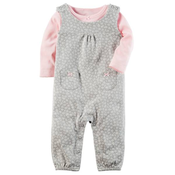Baby Girls' 2-Piece Coverall Set