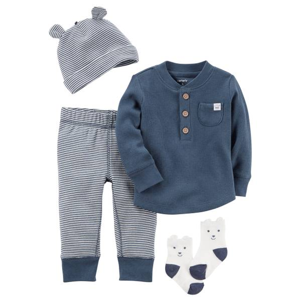 Baby Boys' 4-Piece Layette Set