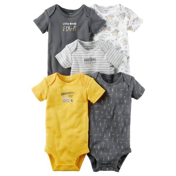 Baby Boys' 5-pack Short Sleeve Bodysuits