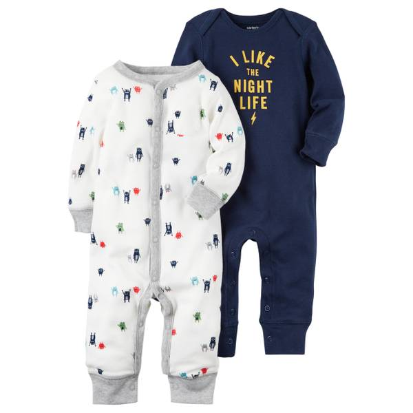 Baby Boys' 2-Pack Coverall Set