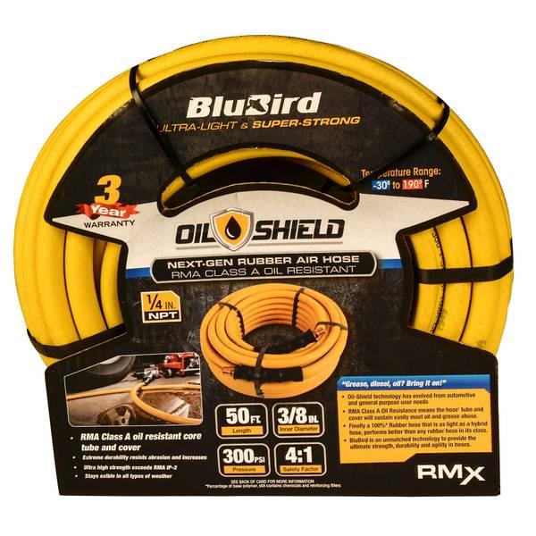 """3/8"""" x 50' BluBird Oil Shield Air Hose"""