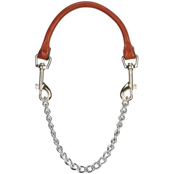 Chain & Leather Goat Collar