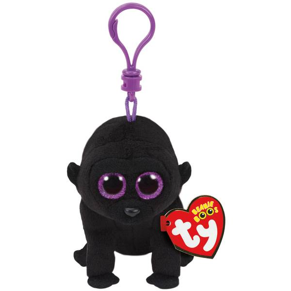 Beanie Boo Clip George the Black Gorilla