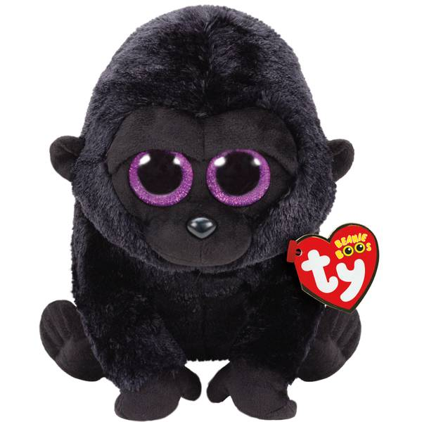 Beanie Boo Med George the Black Gorilla