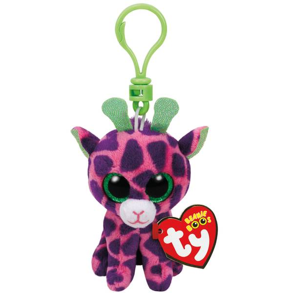 Beanie Boo Clip Gilbert the Pink Giraffe