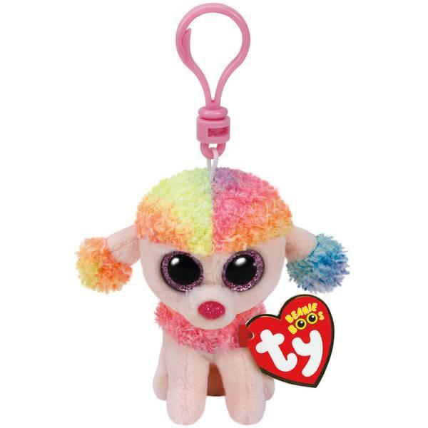 Beanie Boo Clip Rainbow the Poodle