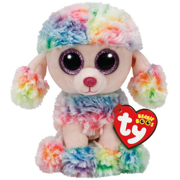 Beanie Boo Regular Rainbow the Poodle