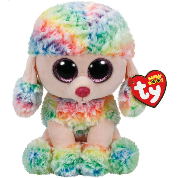 Beanie Boo Med Rainbow the Poodle