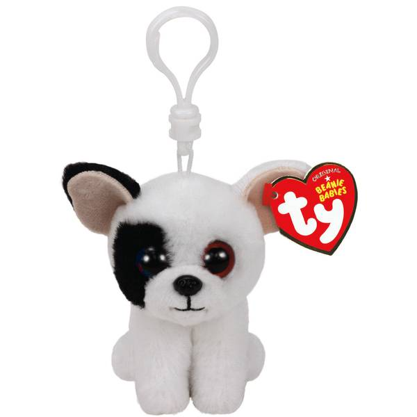 Beanie Baby Clip Marcel the White Dog