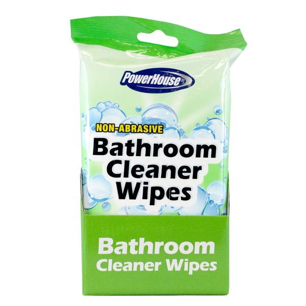 Non-Abrasive Bathroom Cleaner Wipes