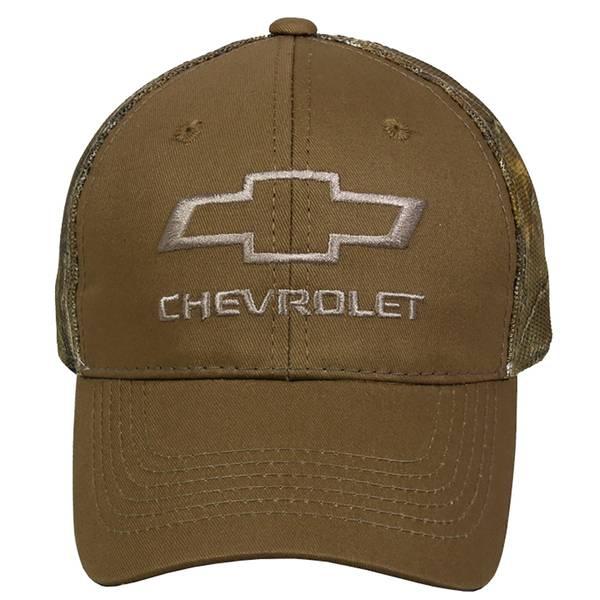 Outdoor Cap Men's Chevy Logo With Camo Meshback Cap