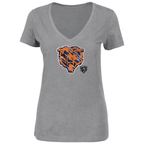 Misses' Gray Chicago Bears Printed T-Shirt