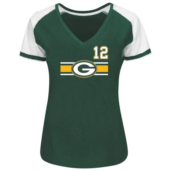 Misses Green Bay Packers Rodgers V-Neck Shirt
