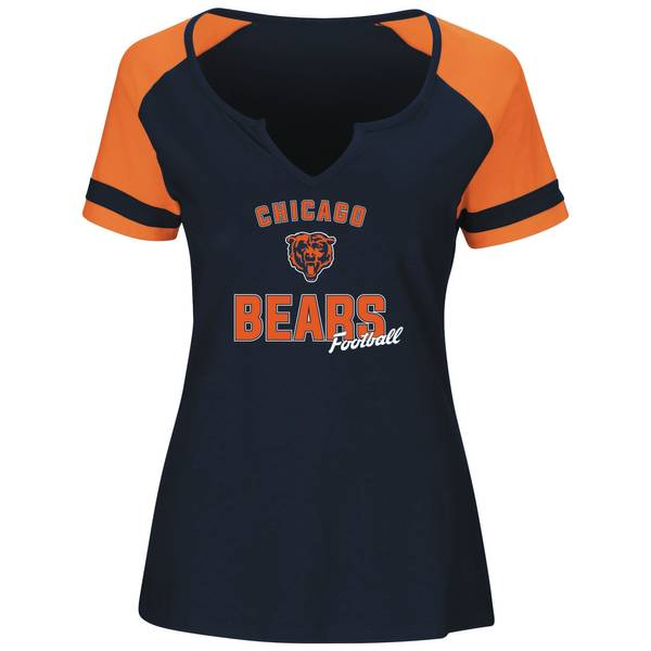 Misses Chicago Bears Notch Neck T-Shirts