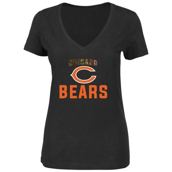 Misses Chicago Bears Camo Shirt
