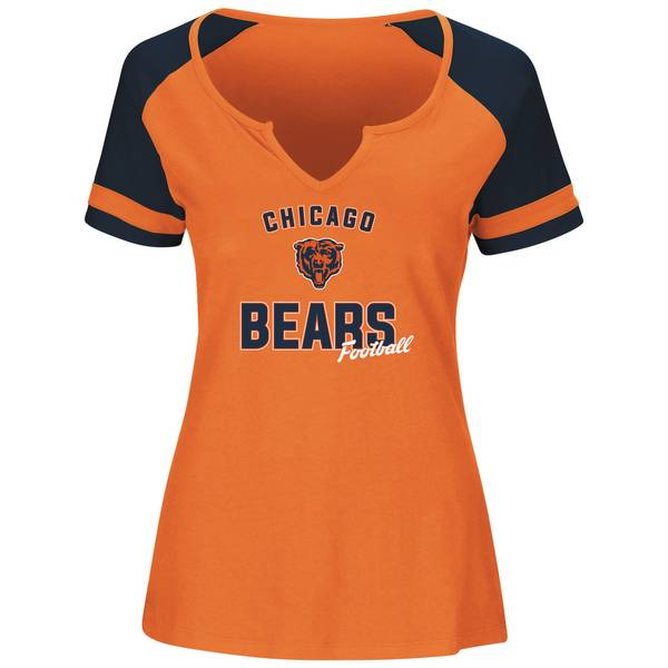 Misses Chicago Bears Notch Neck T-Shirt