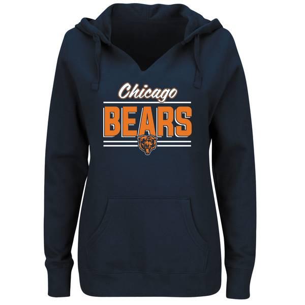 Misses Chicago Bears Split Pull Over Hoodie