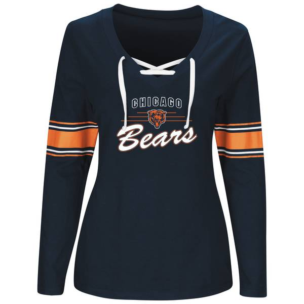Misses Chicago Bears Lace Up Top