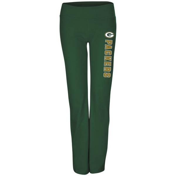 Misses Green Bay Packers Fleece Yoga Pants