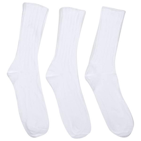 Women's Cuff Crew 4x2 Rib Socks -  3 Pairs