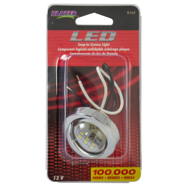 LED Snap-In License Light
