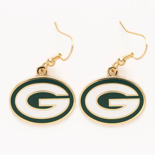 Green Bay Packers Logo Dangle Earrings