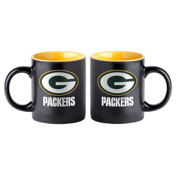 Green Bay Packers 14 oz Black Matte Mug