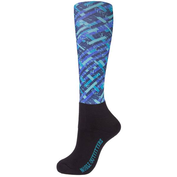 Women's Mint Geo Over the Calf Peddies