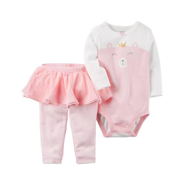 Baby Girl's Pink 2-Piece Bodysuit & Tutu Pants Set