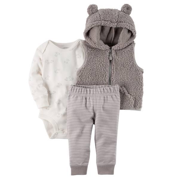 Baby Boys' 3-Piece Little Vest Set