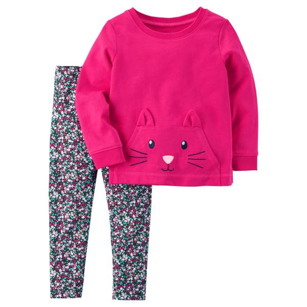 Toddler Girl's Multi-Colored Two-Piece Character Top & Leggings Set