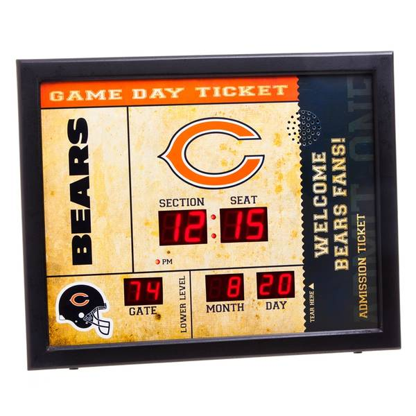 Chicago Bears Bluetooth Scoreboard Wall Clock