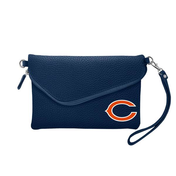 Chicago Bears Fold Over Crossbody Pebble Purse