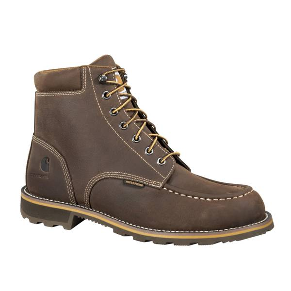 Rugged Casual Moc Toe Boots