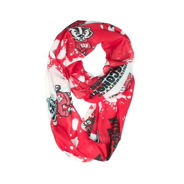 Wisconsin Badgers Silky Infinity Scarf