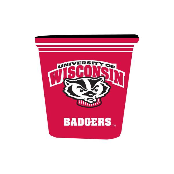 Wisconsin Badgers Trash Can Skin