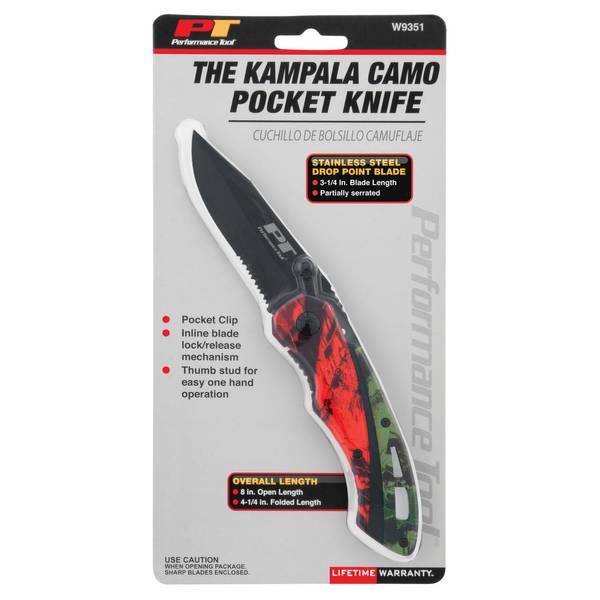 The Kampala Camo Pocket Knife