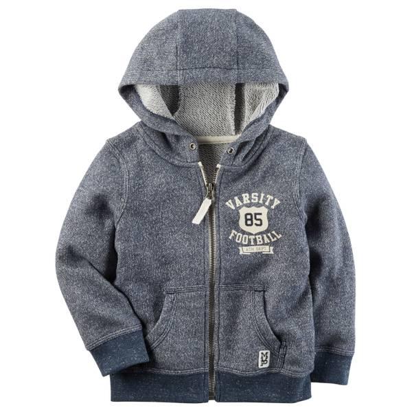 Toddler Boys' Navy Full Zip Hoodie
