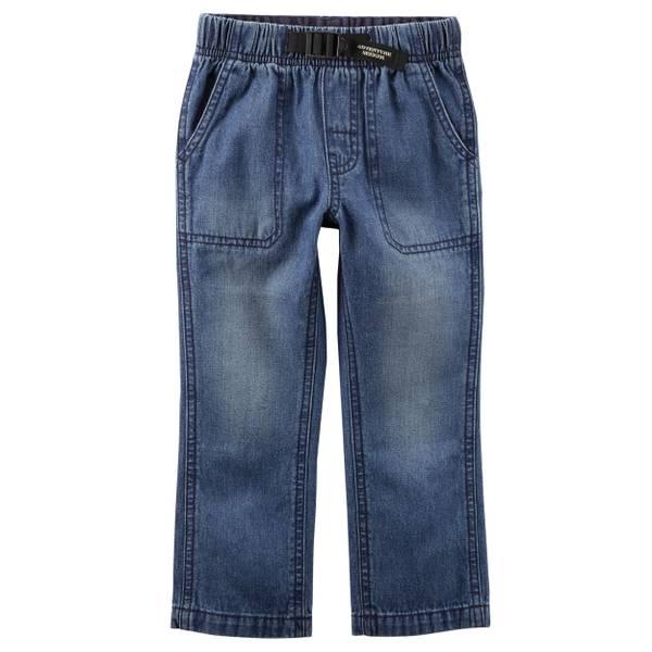Boy's Blue Buckled Denim Pants