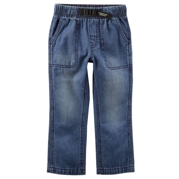 Toddler Boy's Blue Buckled Denim Pants