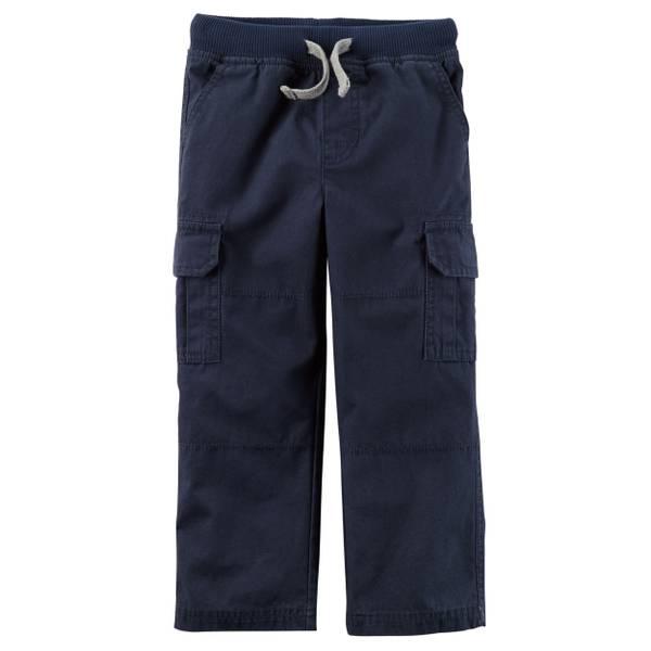 Little Boys' Navy Cargo Pants