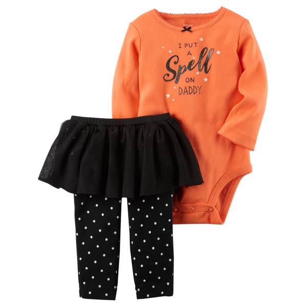 Baby Girls' 2-piece Halloween Tutu Set