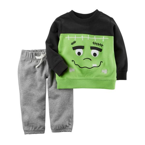Baby Boys' 2-Piece French Terry Halloween Top & Pants Set
