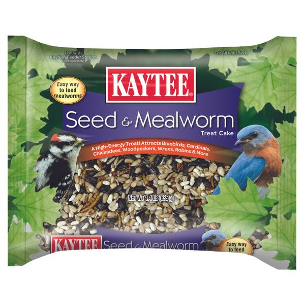 Seed & Mealworm Treat Cake