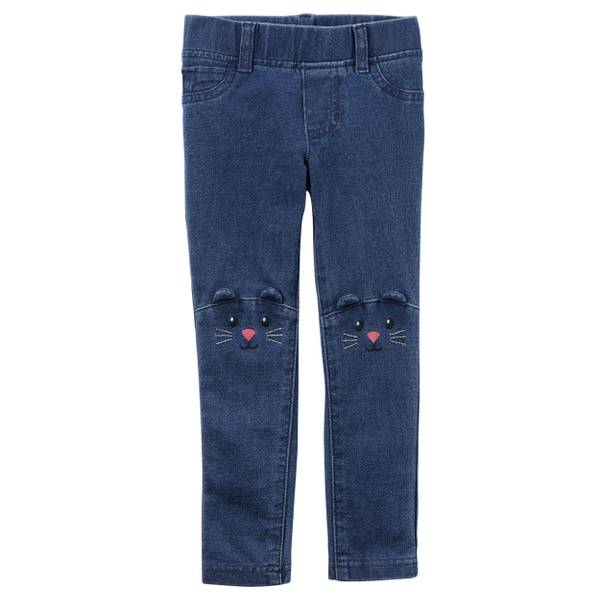 Toddler Girls' Blue Character Pants